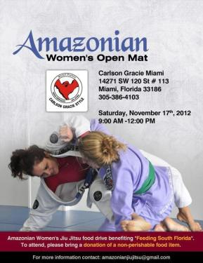 Attention Jiu-jiteiras: Amazonian Women's Jiu-jitsu meets this Saturday.